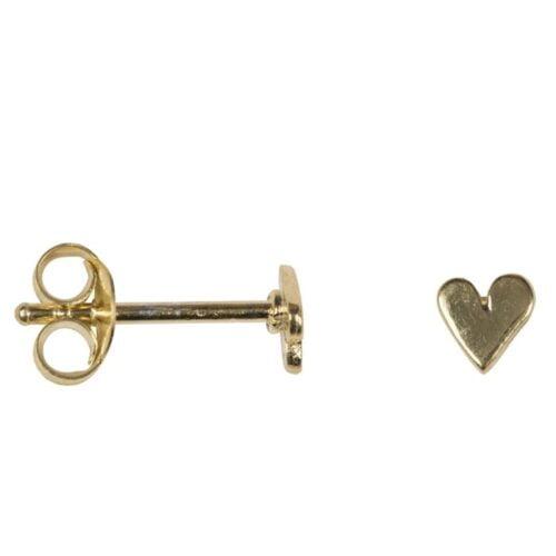 BETTY BOGAERS EARRING LITTLE THINGS E620 Gold Asymmetric Heart Stud Earring Small 24,95