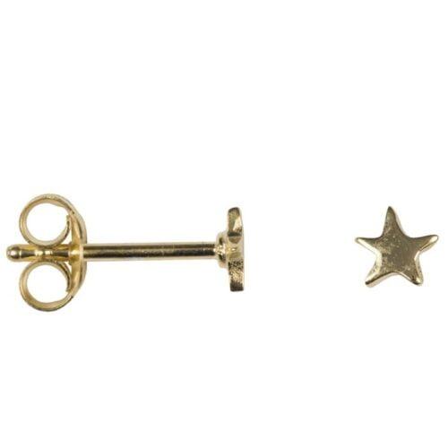 BETTY BOGAERS EARRING LITTLE THINGS E621 Gold Asymmetric Star Stud Earring Small 24,95