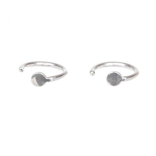BETTY BOGAERS EARRING LITTLE THINGS E624 Silver Mini Ring Dot Earring 29,95