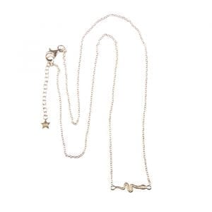 BETTY BOGAERS NECKLACE SNAKE AND CROCO N627 Gold Snake Chain Necklace (39,5 cm) 79,95