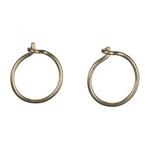 BETTY BOGAERS EARRING BASIC E651 Gold Small Plain Hoop Earring 24,95