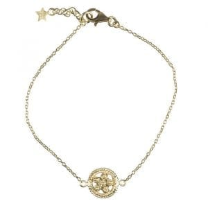 BETTY-BOGAERS-BRACELET-FLOWERS-LEAFS-B664-Gold-Romantic-Flower-Chain-Bracelet-