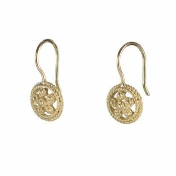 BETTY-BOGAERS-EARRING-FLOWERS-LEAFS-E664-Gold-Romantic-Flower-Earring