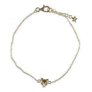 BETTY-BOGAERS-EARRING-NORDIC-E687-Gold-Wolf-Stud-Chain-Bracelet