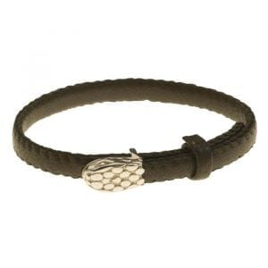 BETTY-BOGAERS-BRACELET-SNAKE-AND-CROCO-B750-Gold-Small-Leather-Snake-Bracelet-TAUPE-