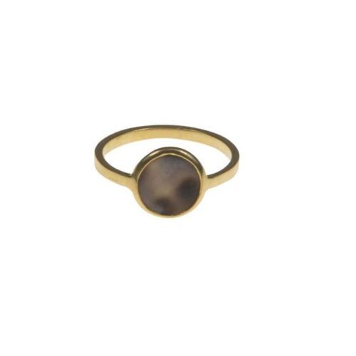BETTY-BOGAERS-RING-SHELL-PEARLS-R748-Gold-Tiger-Shell-Ring