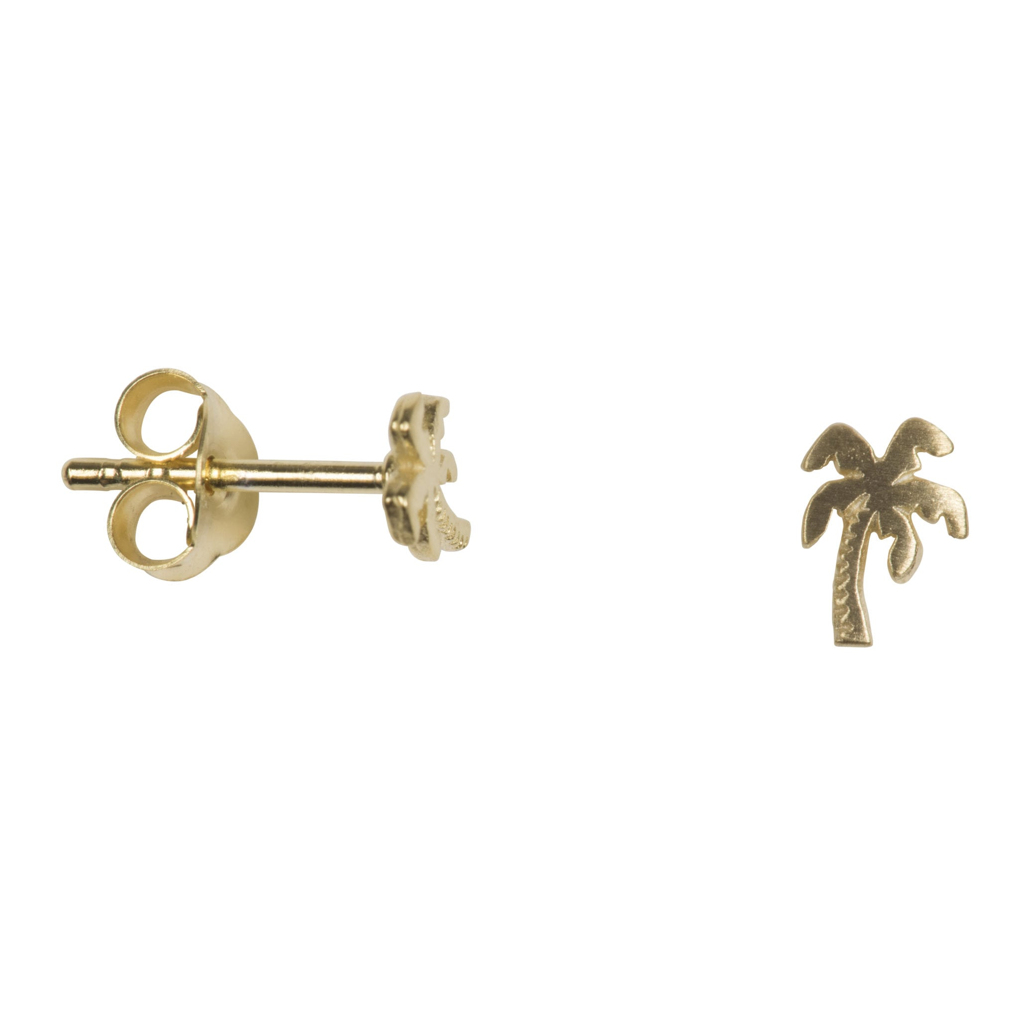 Betty Bogaers Earring Summer E751 Gold Palm Tree Stud 29 95