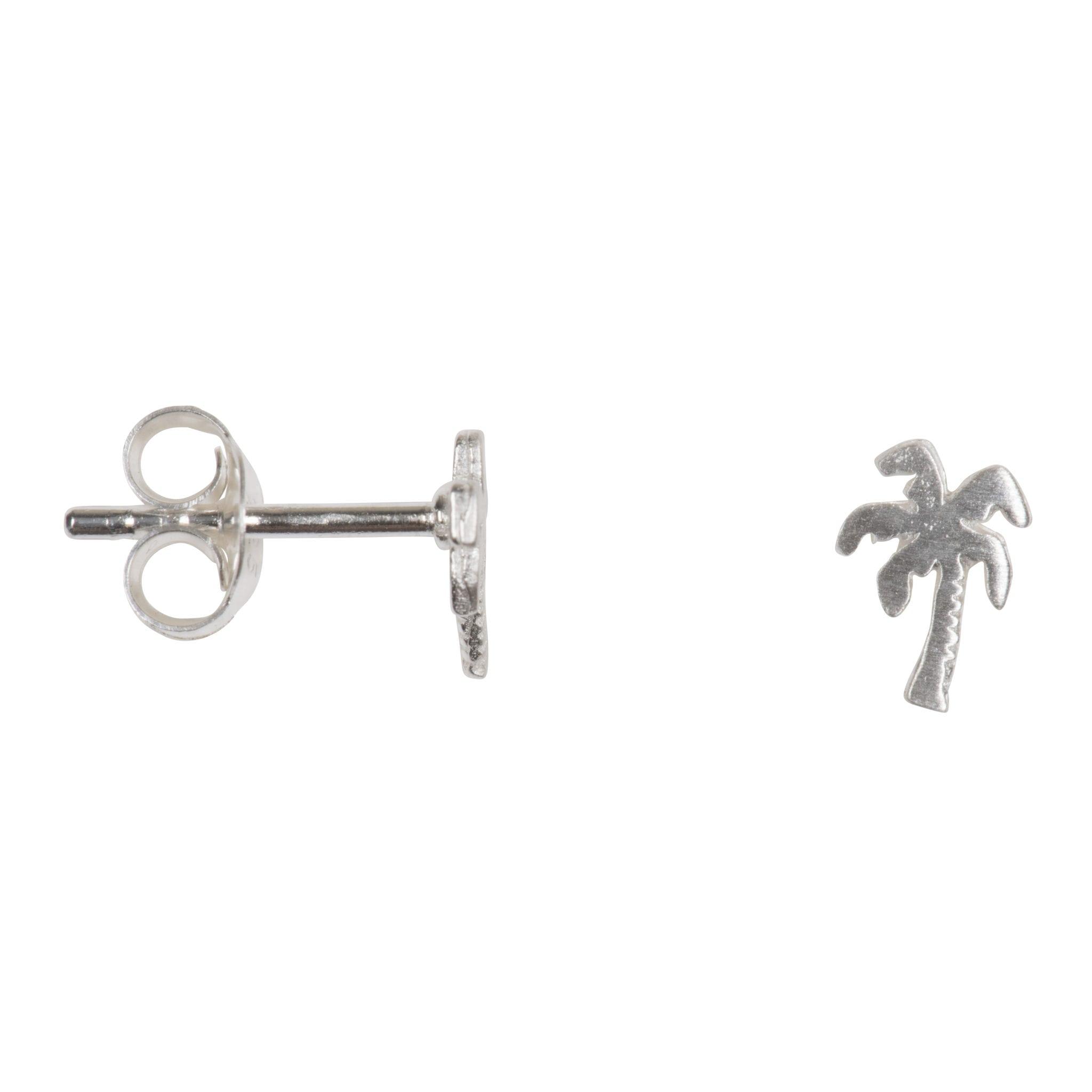 Betty Bogaers Earring Summer E751 Silver Palm Tree Stud 24 95