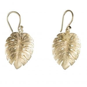 BETTY BOGAERS EARRING SUMMER E756 Gold Palm Leaf Hook Earring 69,95
