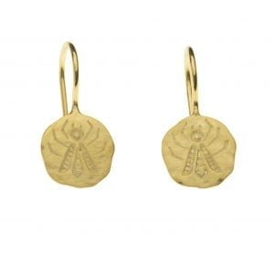 BETTY BOGAERS EARRING SUMMER E757 Gold Bee Hook Earring 34,95