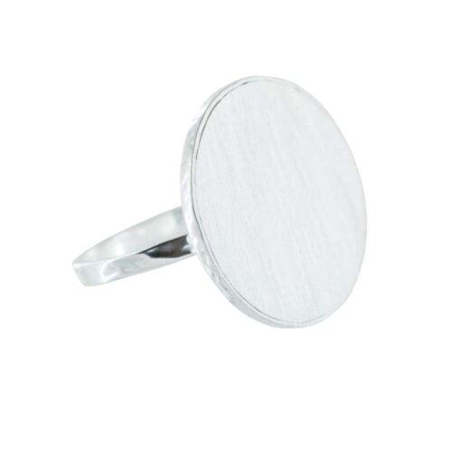 R780 Silver RING MONOCHROME Big Circle Ring