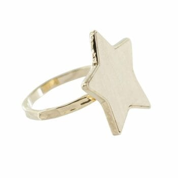 R781 Gold RING MONOCHROME Big Star Ring