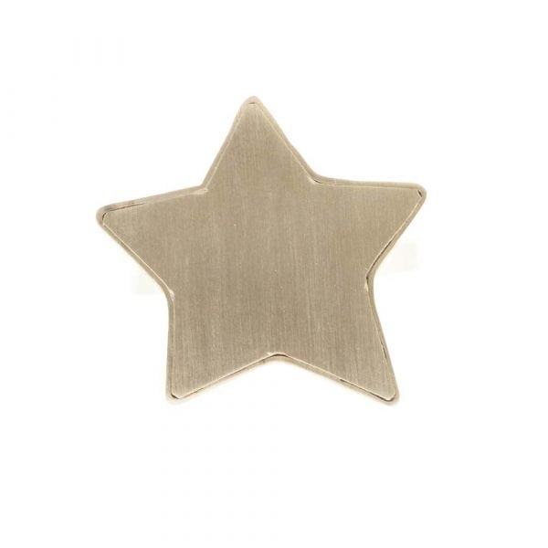 R781 Gold RING MONOCHROME Big Star Ring FRONT