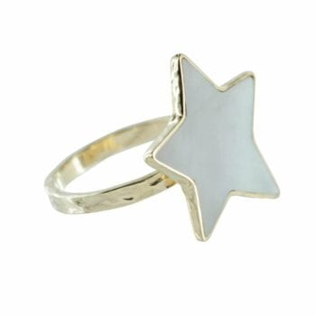 R783 Gold RING MONOCHROME Big Parlemour Star Ring