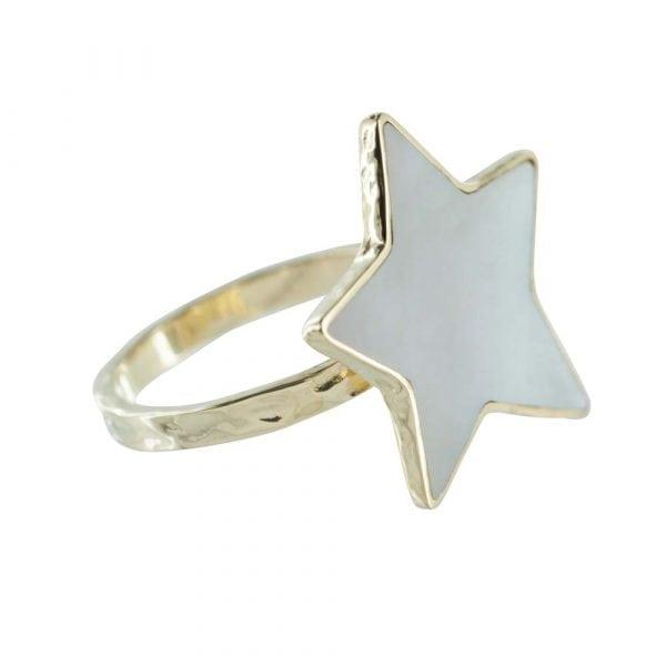 R783 Gold RING MONOCHROME Big Parlemour Star Ring