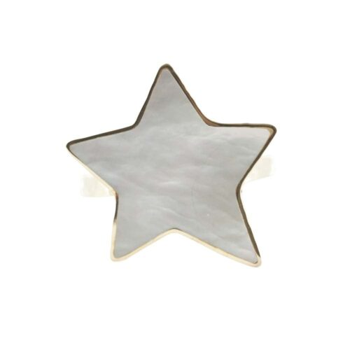 R783 Gold RING MONOCHROME Big Parlemour Star Ring FRONT
