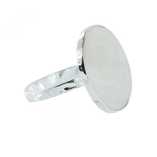 R785 Silver RING MONOCHROME Big Parlemour Circle Ring