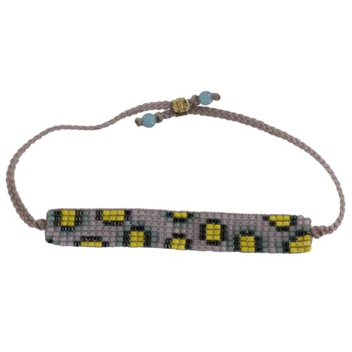 BC B807 Gold PINK-YELLOW Bibi Et Camie Leopard Beads Bracelet PINK-YELLOW 24,95 EURO