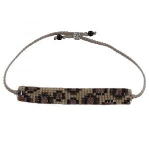 BC B807 Silver BEIGE Bibi Et Camie Leopard Beads Bracelet BEIGE 22,95 EURO