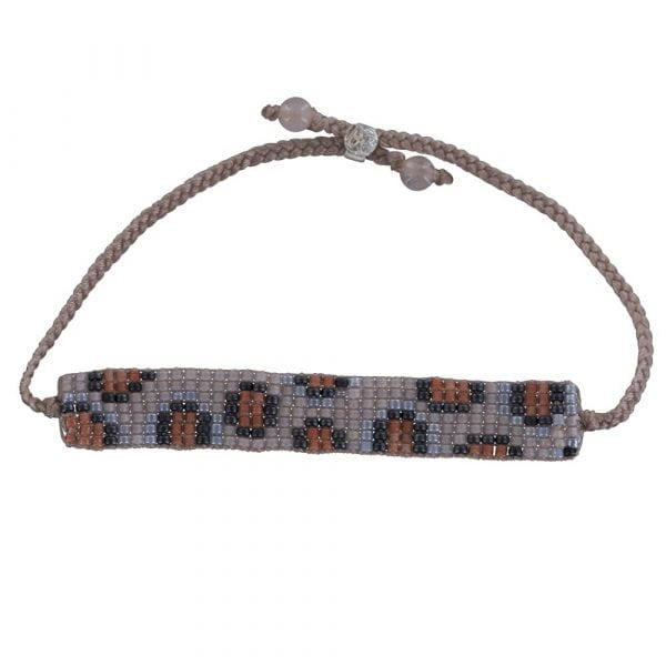 BC B807 Silver PINK-ORANGE Bibi Et Camie Leopard Beads Bracelet PINK-ORANGE 22,95 EURO