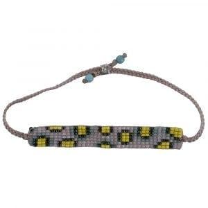 BC B807 Silver PINK-YELLOW Bibi Et Camie Leopard Beads Bracelet PINK-YELLOW 22,95 EURO
