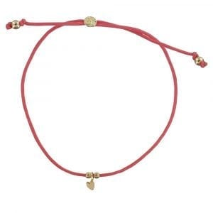 BC B809 Gold CORAL Bibi Et Camie Sweet Heart Rope Bracelet CORAL 24,95 EURO