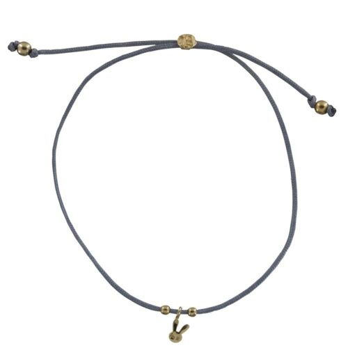 BC B810 Gold BLUE GREY Bibi Et Camie Happy Rabbit Rope Bracelet BLUE GREY 24,95 EURO