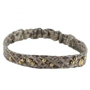 BC B811 Gold WHITE GREY Bibi Et Camie Leather Bracelet WHITE GREY 34,95 EURO