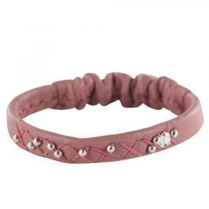 BC B811 Silver CORAL PINK Bibi Et Camie Leather Bracelet CORAL PINK 29,95 EURO