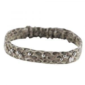 BC B811 Silver WHITE GREY Bibi Et Camie Leather Bracelet WHITE GREY 29,95 EURO