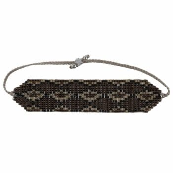 B801 Silver Brown REBELLION BRACELET Snake Beads Bracelet BROWN 29,95 euro