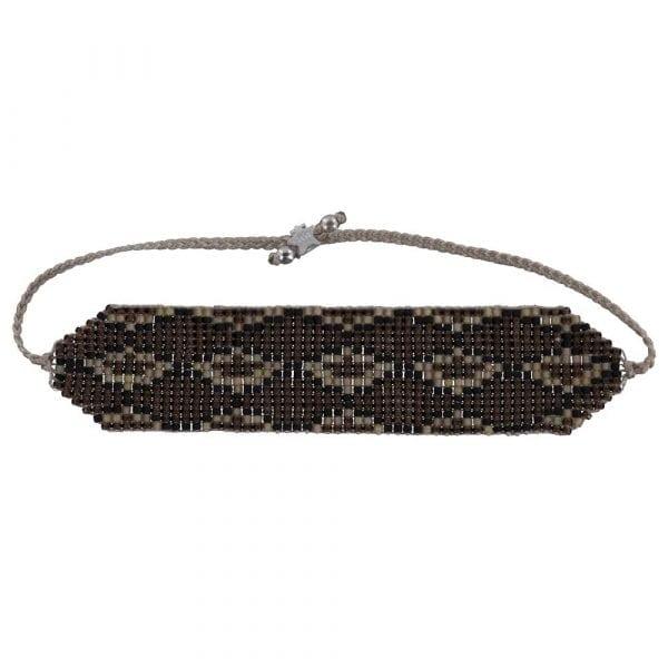 B801 Silver Brown REBELLION BRACELET Snake Beads Bracelet BROWN 29,95 euro