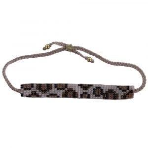 Leopard Beads Bracelet BABY PINK Gold