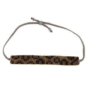 Leopard Beads Bracelet YELLOW Silver
