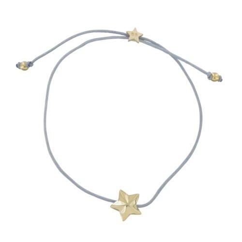 B810a Gold GREY REBELLION BRACELET Star Cone Rope Bracelet GREY 34,95 euro