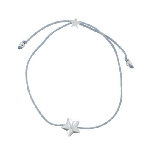 B810a Silver GREY REBELLION BRACELET Star Cone Rope Bracelet GREY 24,95 euro