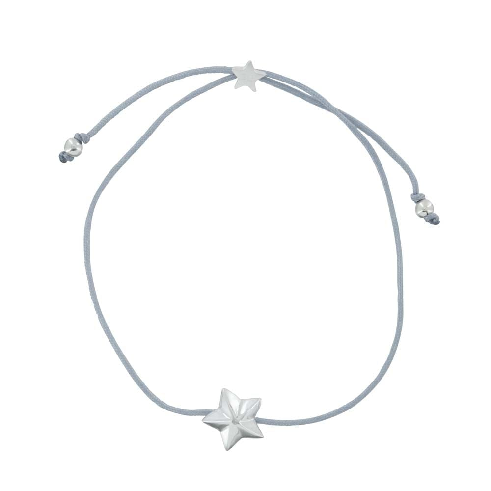 B810a Silver GREY REBELLION BRACELET Star Cone Rope Bracelet GREY 24,95 euro