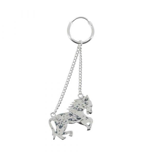 E803 Silver REBELLION EARRING Horse Earring (one piece) 24,95 euro