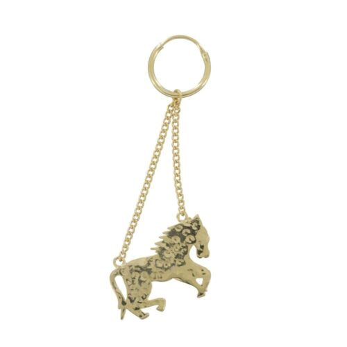 E803 Gold REBELLION EARRING Horse Earring (one piece) 29,95 euro