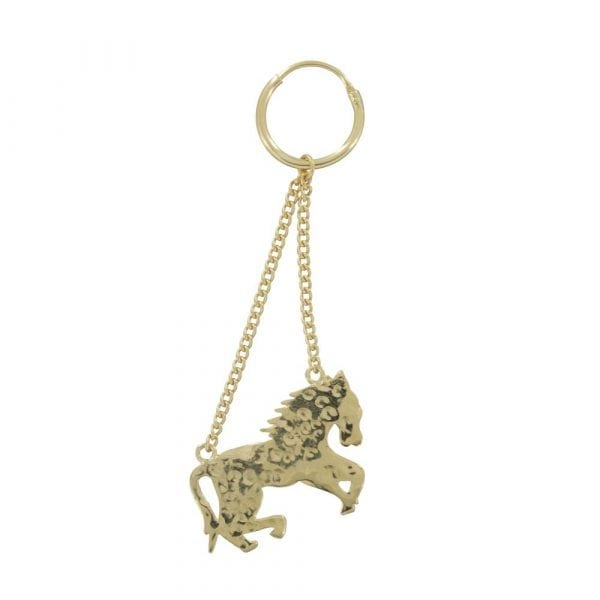 E803 Gold REBELLION EARRING Horse Earring (one piece) 29,95 euro