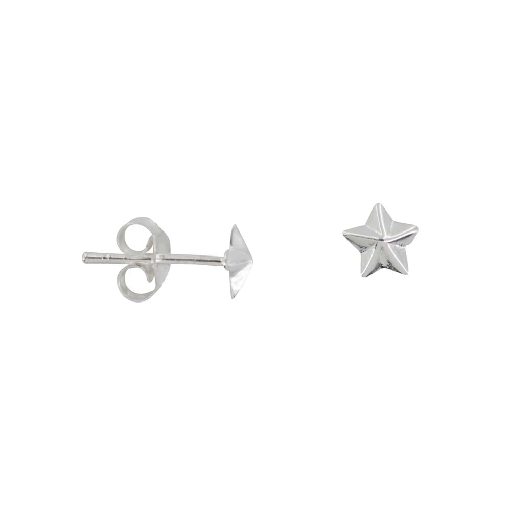 E810 Silver REBELLION EARRING Medium Star Cone Stud earring 24,95 euro