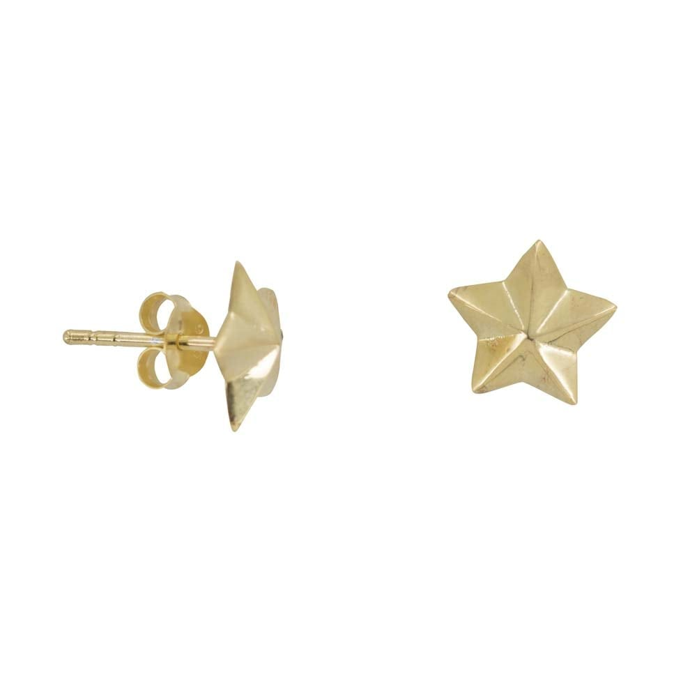 E811 Gold REBELLION EARRING Big Star Cone Stud earring 34,95 euro