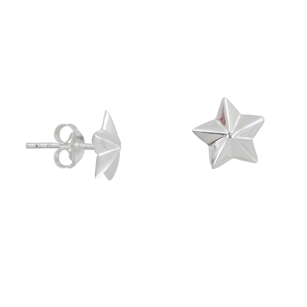 E811 Silver REBELLION EARRING Big Star Cone Stud earring 29,95 euro
