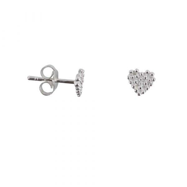 E814 Silver REBELLION EARRING Dotted Heart Stud Earring 22,95 euro