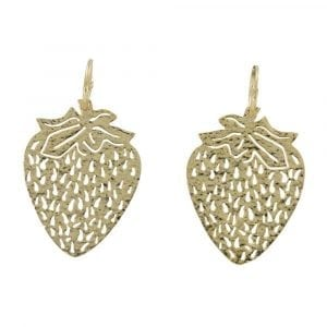 E817 Gold REBELLION EARRING Small Hoop Strawberry Earring 54,95 euro