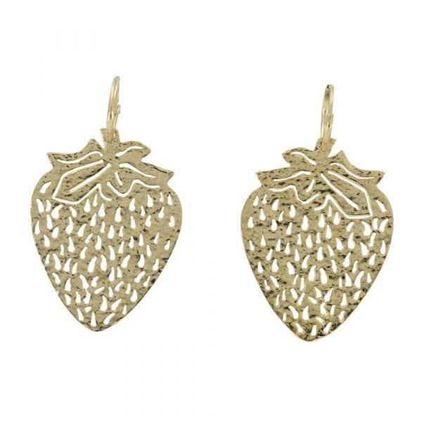 E817 Gold REBELLION EARRING Small Hoop Strawberry Earring 54,95 euro