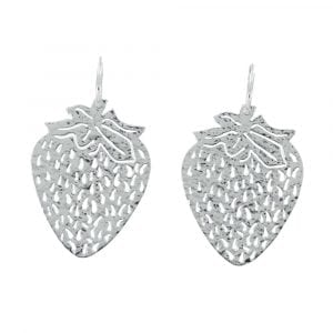 E817 Silver REBELLION EARRING Small Hoop Strawberry Earring 44,95 euro