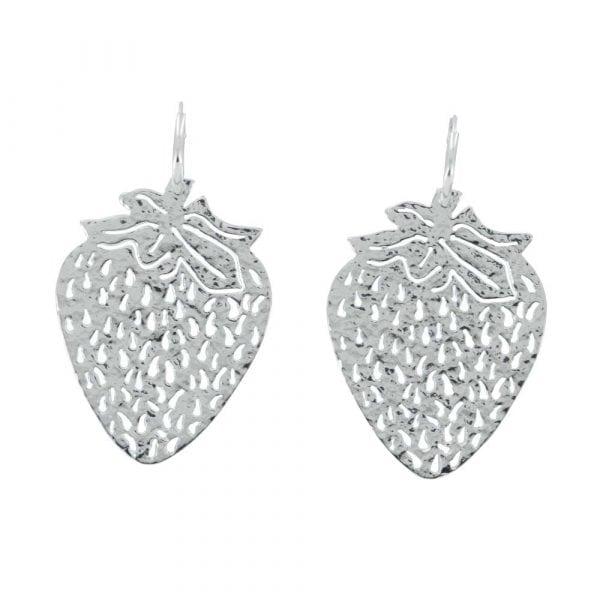 E817 Silver REBELLION EARRING Small Hoop Strawberry Earring 44,95 euro