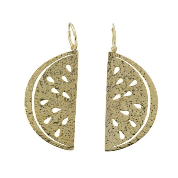 E818 Gold REBELLION EARRING Small Hoop Watermelon Earring 54,95 euro