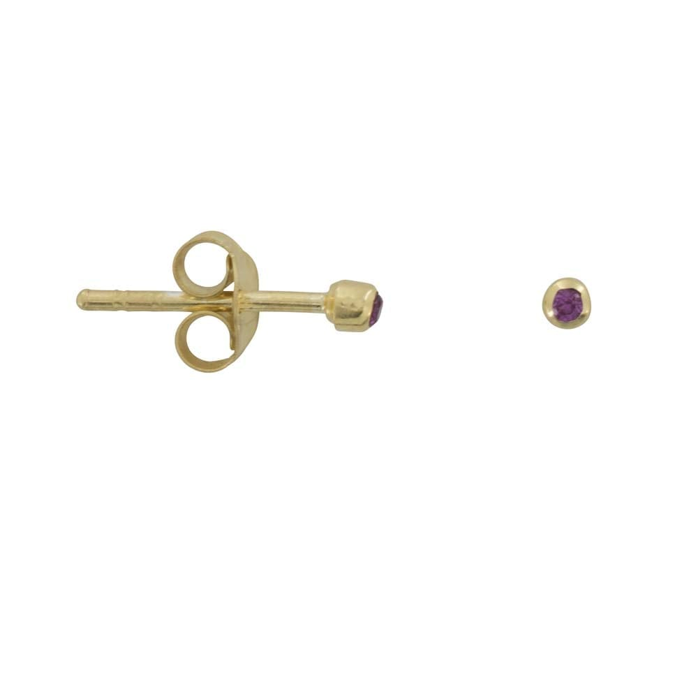 E819 Gold REBELLION EARRING Red Zirkonia Stud Earring 22,95 euro
